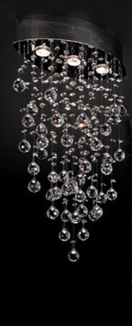 120V Designer Polished Chrome Ceiling Light - Drizzle