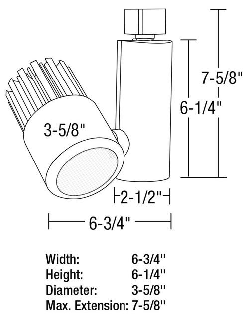 120v 35w led adjustable track head
