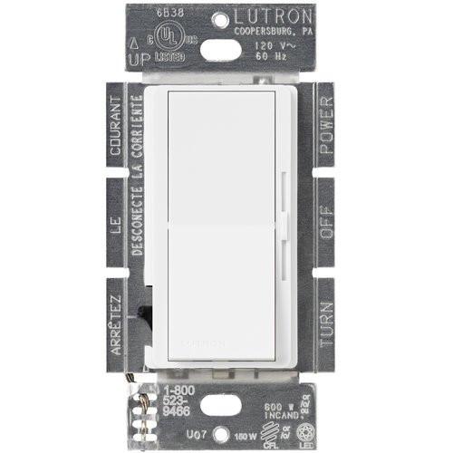 150W Diva C·L Single Pole 3Way Digital Dimmer Light Switch  (shown in white)