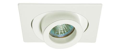 "White 12V 4"" MR16  Adjustable Spot Square Trim C1487"