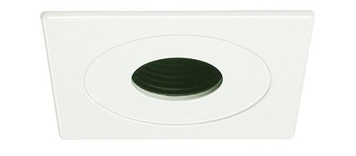 """White 12V 4"""" MR16 Pinhole w/ Baffle Square Trim C1491"""