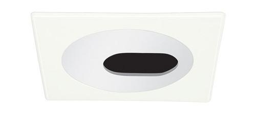 "White 120V 4"" PAR20 Square Slot Aperture Trim C443"