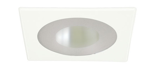 "White 120V 4"" PAR20 Recessed Square Trim w/ Frosted Lens and Reflector C444"