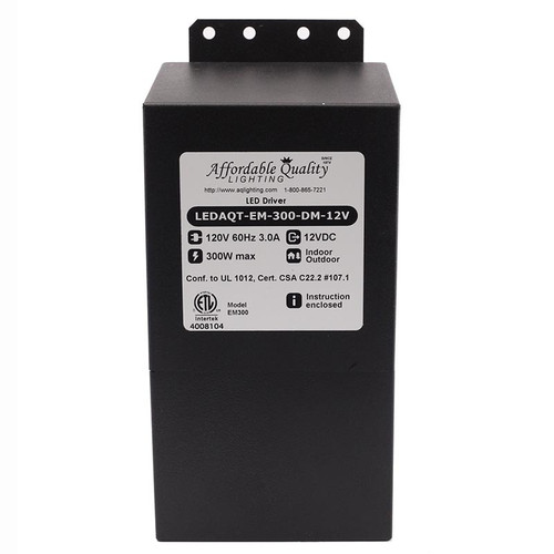 Indoor/Outdoor 12V 300w DC LED Driver Dimmable Transformer (LEDAQT-300-DM-12V) - Option Set