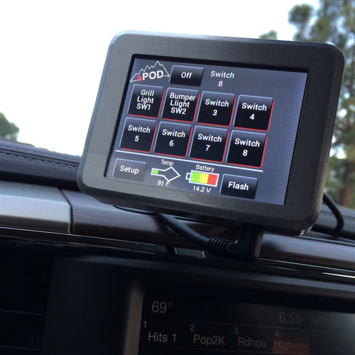 Touchscreen Installed w/ Dash Mount