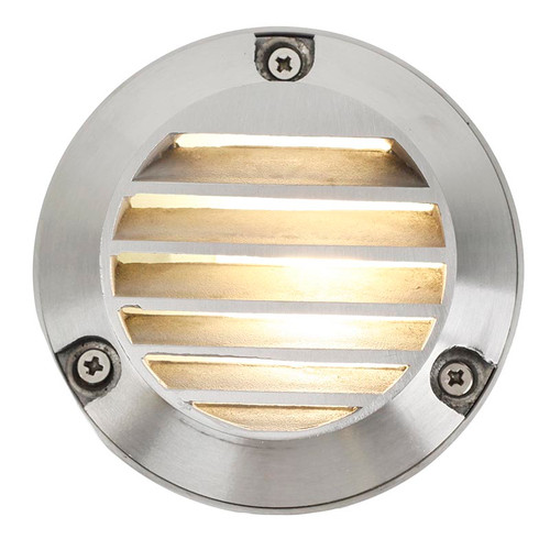 "4"" Cast Brass Louver Step Deck Light PDBS426 (shown in stainless steel)"
