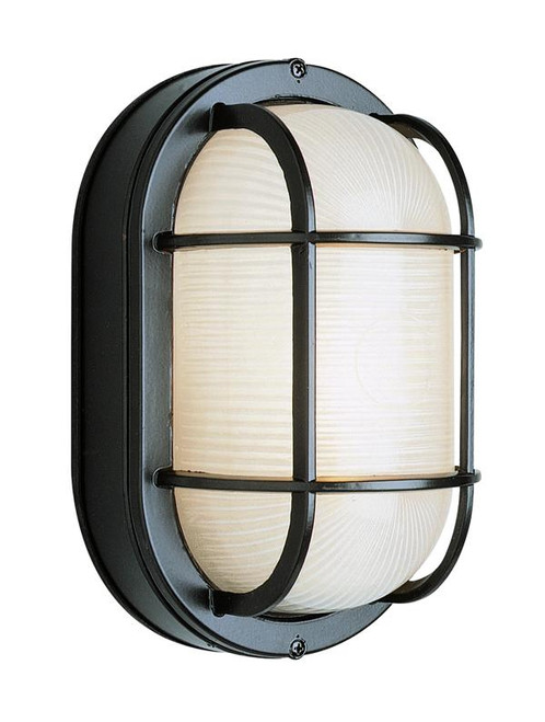 1 Light Outdoor Bulkhead 41015BK Black