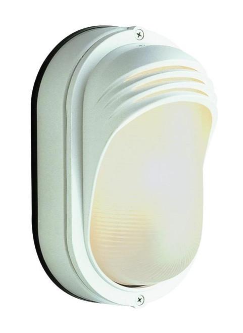 1 Light Outdoor Bulkhead 4124WH White
