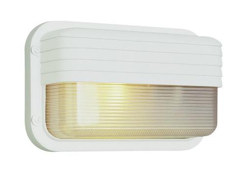 1 Light Outdoor Bulkhead 41102WH White
