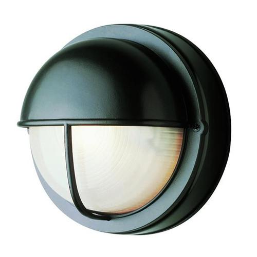 1 Light Outdoor Bulkhead 4120BK Black