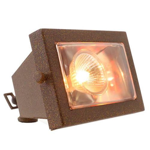 LED Rectangular Open Face Brass Flood Light LE110