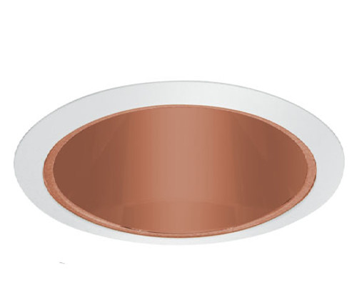 "120v 6"" Specular Cone Reflector Recessed Lighting Trim Copper/ White"