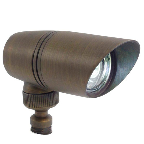 Rugged Mini Brass Spotlight PSLDX11 in bronze