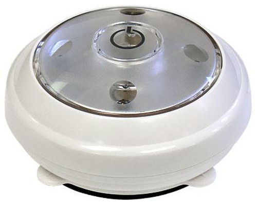 Battery Operated LED Puck Light (shown in white)