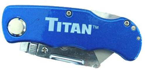 Folding Pocket Utility Knife Blue
