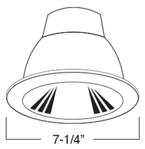 120v 6 u0026quot  twin cfl polished cone reflector trim  c4f2c  by aql