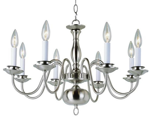 8 Light Williamsburg Chandelier 10081BN Nickel