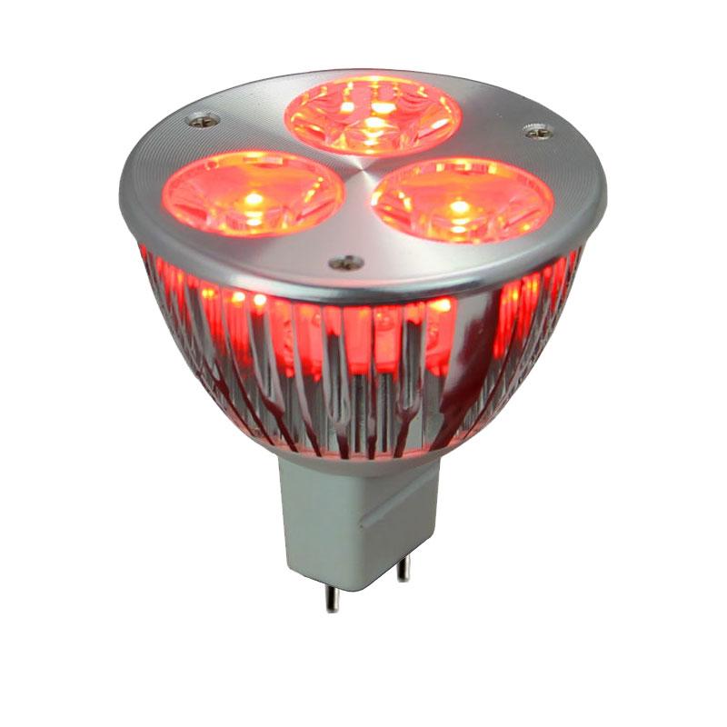 12v 6w red led mr16 wide spot light bulb led1612v6w red ws by aql. Black Bedroom Furniture Sets. Home Design Ideas