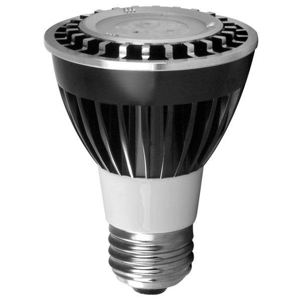Exn E26 Bulb 50w 120v Medium Base Halogen Mr16 Flood: 120V 6w LED Bright White PAR20 Light Bulb