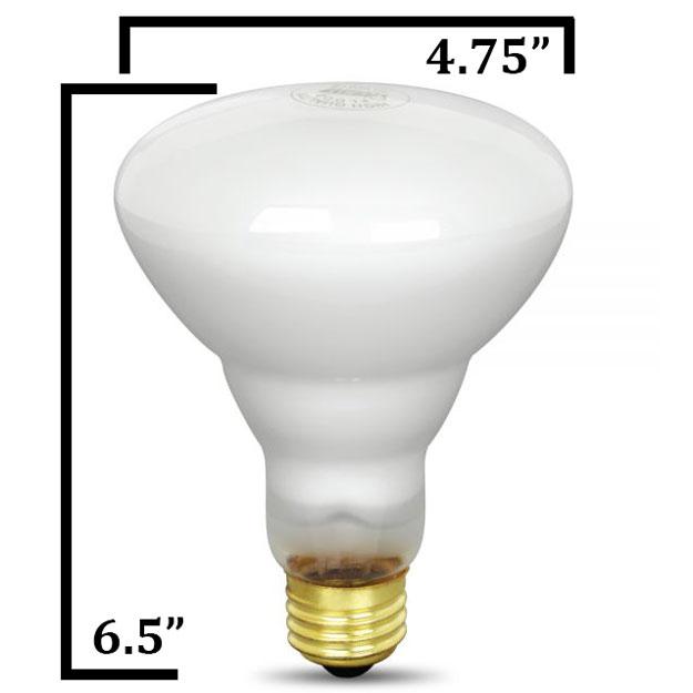 120v 65w Br40 Reflector Light Bulb 65br Fl 130 By Feit