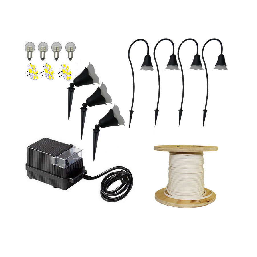 Landscape pathway lighting kits : Led flower light pack kit flowerpk by aql