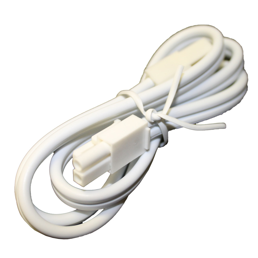 24 Inch White Puck Light Jumper Cable