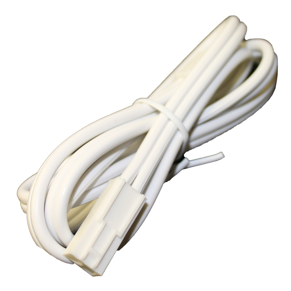 36 Inch White Puck Light Jumper Cable