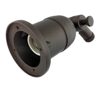 Bronze Gooseneck Sign Light ADLXSV930 Recessed Medium Base Socket