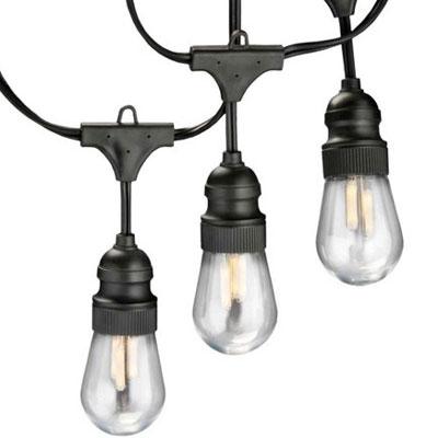 Outdoor Led Edison String Lights : 12V 15ft LED Edison Filament Light String Kit - Commercial Grade by AQL