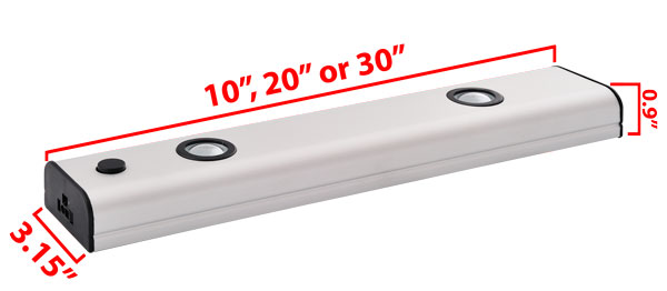 High Output LED Under Cabinet Light Bar Dimensions