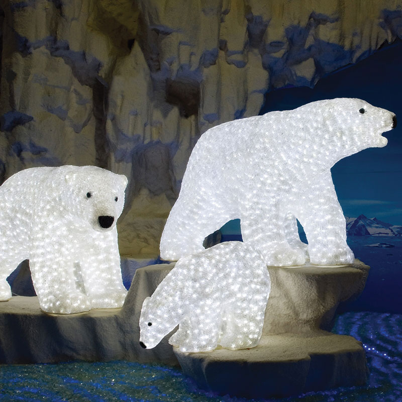 Led Big Daddy Polar Bear Acrylic Sculpture Papabear By Aql