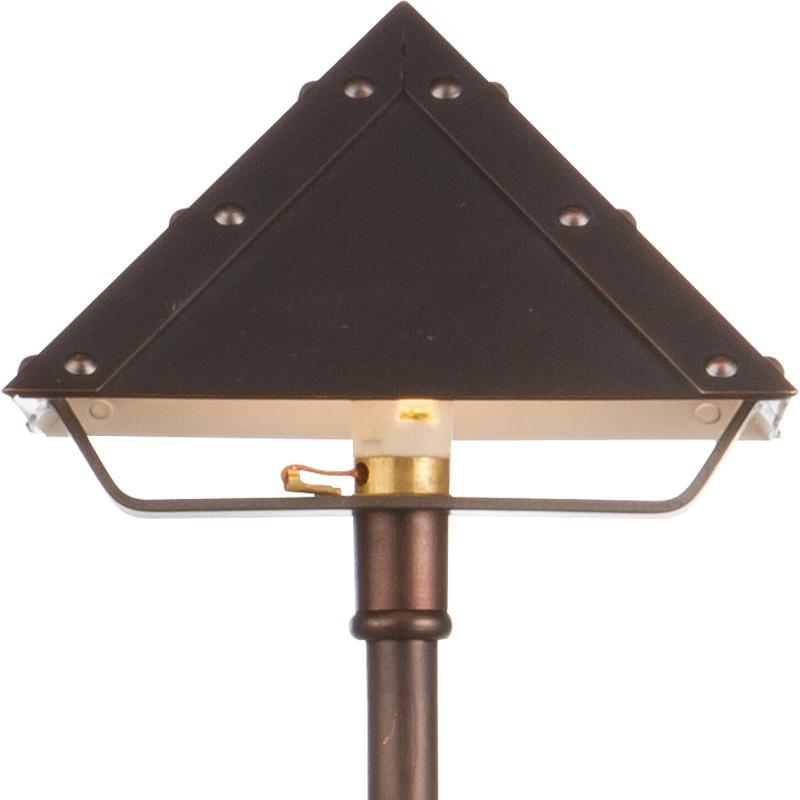 Quality Landscape Lighting Fixtures: LED Pyramid Brass Area Light LED-PA003