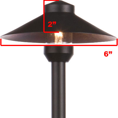 Led China Hat Brass Area Light Led Pash112 By Aql