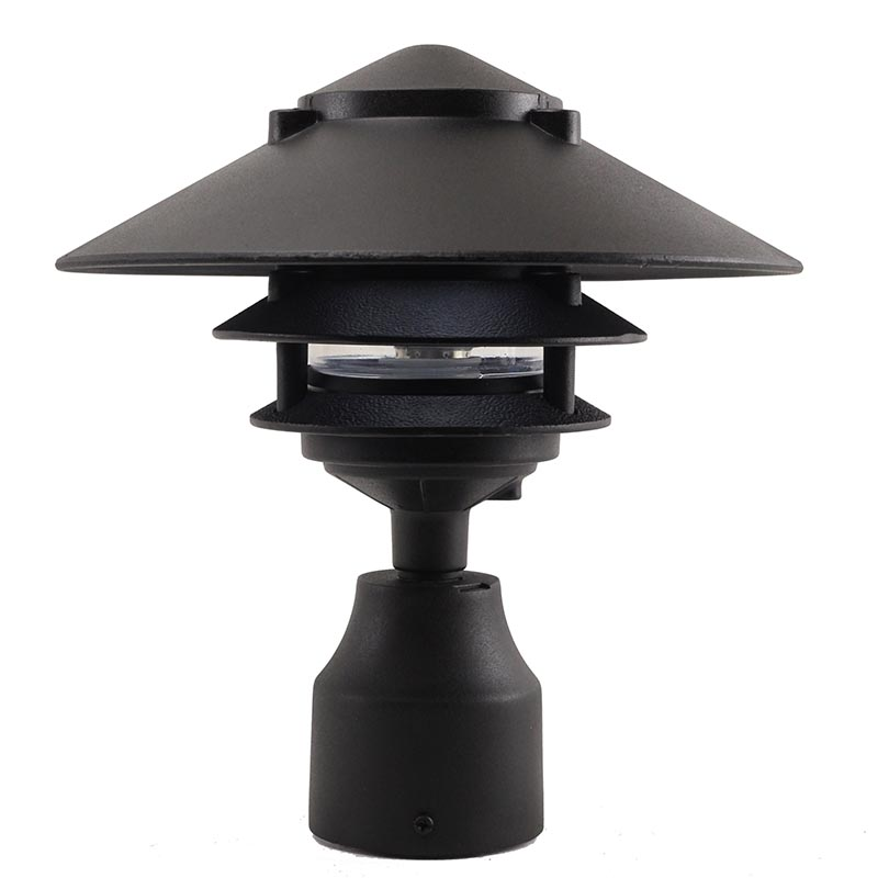 Quality Landscape Lighting Fixtures: LED 3 Tier Pagoda Post Light (LED-PPC351) By AQL
