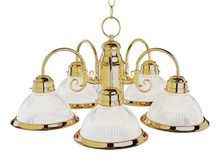 5 Light Polished Brass Traditional Chandelier 1090PB