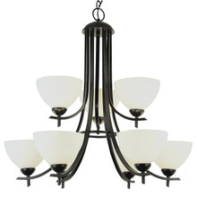 9 Light Rubbed Oil Bronze Chandelier 8179ROB