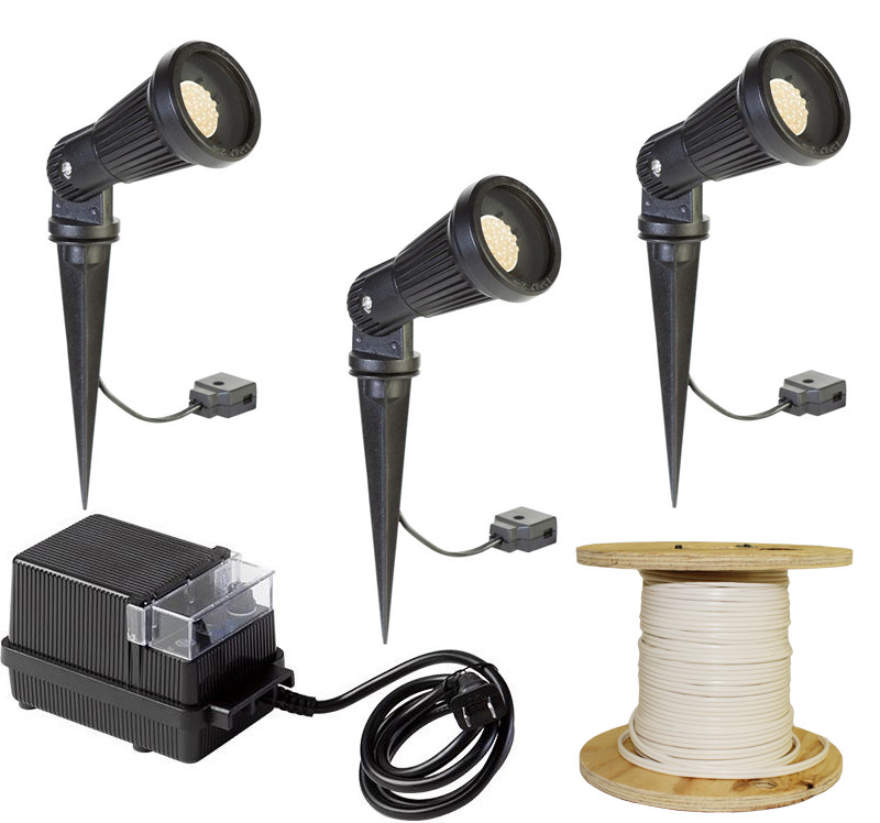 LED Landscape 3 Aluminum Spotlight Kit (LED-3KIT-002) By AQL