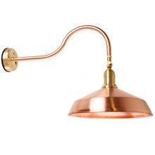 Gooseneck Barn Light - Raw Copper
