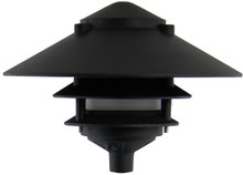 Large Top Pagoda Area Light PAT-LT3R in black head only 6""
