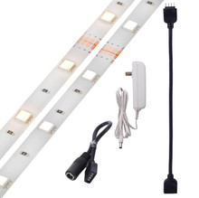 Plug & Light - LED Under Cabinet Lighting - Undercabinet Tape Light Kit - Dimmable
