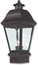 Pilaster Light XPC-043 in flat black finish and clear seedy glass