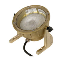 SL-11 Brass Underwater Light with optional aiming bracket