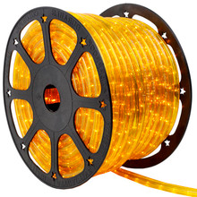 120V 3 Wire Incandescent Yellow Chasing Rope Light - 150 Ft
