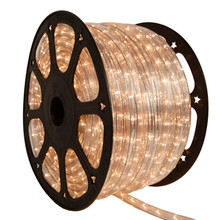 120V 3 Wire Incandescent Clear Chasing Rope Light - 150 Ft