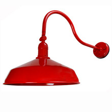 Red Metal Gooseneck Barn Light - LED Barn Lighting - ADLXSV925