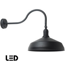 Gooseneck Barn Light -  Black