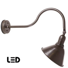 Bronze Gooseneck Sign Light - Outdoor Sign Lighting - LED Warehouse Sign Light - ADLXSV930
