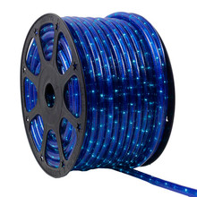 120V 2 Wire Incandescent Blue Rope Light - 150 Ft