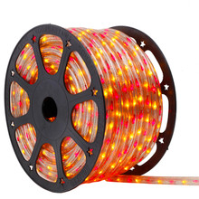 120V 3 Wire Incandescent Bi-Color Red & Yellpw Chasing Rope Light - 150 Ft