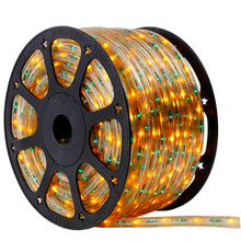 120V 3 Wire Chasing Green & Yellow Bi-Color Incandescent Rope Light - 150 Ft